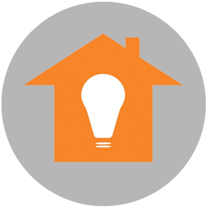 Illustrasjon til bloggpost. Hus med lyspære inni bygningen