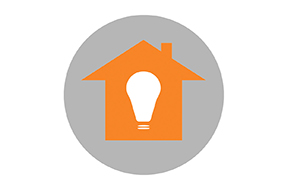 Illustrasjon til bloggpost. Hus med stor lyspære inni.