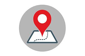 Illustrasjon til bloggpost. Viser pil som finner riktig sted på kart.